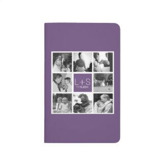 Cree su propio monograma del collage de la foto cuadernos