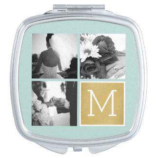 Cree su propio monograma del collage de la foto espejos para el bolso