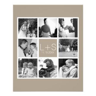 Cree su propio monograma del collage de la foto folleto 11,4 x 14,2 cm
