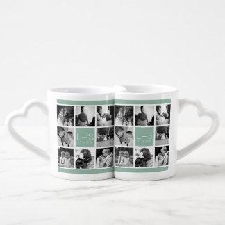 Cree su propio monograma del collage de la foto taza amorosa