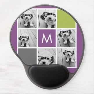 Cree su propio monograma del personalizado del col alfombrilla de raton con gel