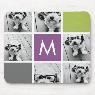 Cree su propio monograma del personalizado del col alfombrillas de ratones