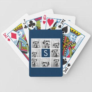 Cree su propio monograma del personalizado del col barajas de cartas