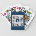 Cree su propio monograma del personalizado del col baraja cartas de poker