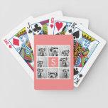 Cree su propio monograma del personalizado del col cartas de juego