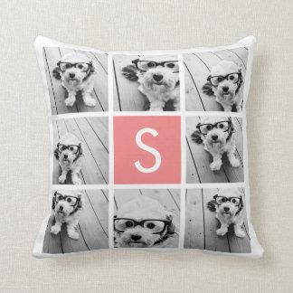 Cree su propio monograma del personalizado del col almohada