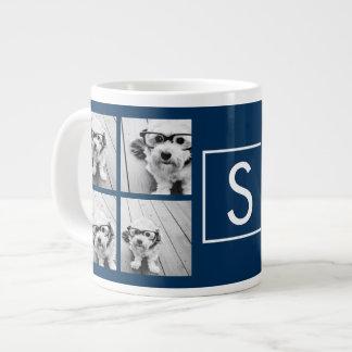 Cree su propio monograma del personalizado del taza de café gigante