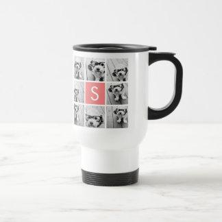 Cree su propio monograma del personalizado del taza térmica