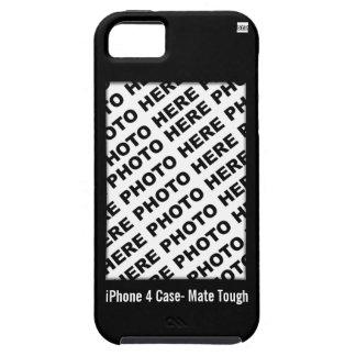 Cree su propio negro duro del caso del iPhone 5 iPhone 5 Case-Mate Funda