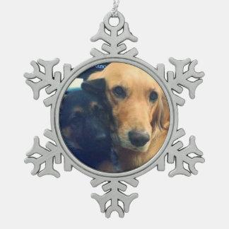 Cree su propio ornamento de encargo del mascota adorno de peltre en forma de copo de nieve