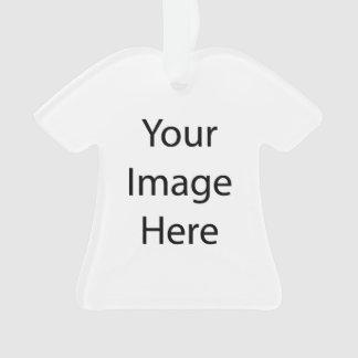Cree su propio ornamento del acrílico de la camisa