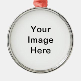 Cree su propio ornamento redondo superior adorno redondo plateado