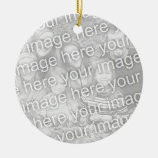 Cree su propio ornamento unilateral del recuerdo adorno redondo de cerámica