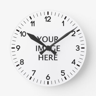 Cree su propio personalizado reloj redondo mediano