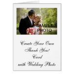Cree su propio PhotoThank que se casa usted las ta Felicitacion