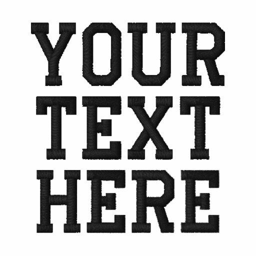 Cree su propio polo bordado del texto