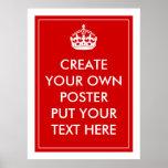 Cree su propio poster