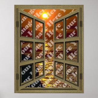 Cree su propio poster de la ventana abierta de Bro