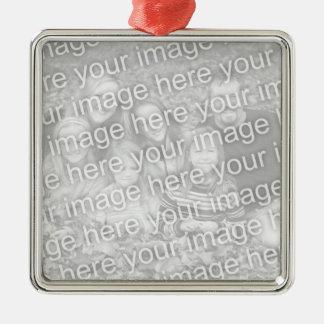 Cree su propio recuerdo cuadrado unilateral de la adorno cuadrado plateado