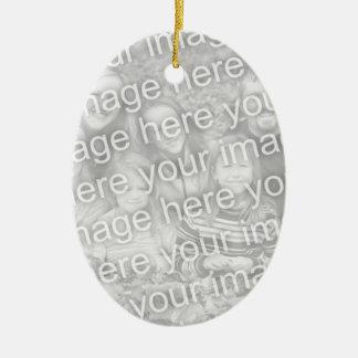 Cree su propio recuerdo oval unilateral de la foto adorno ovalado de cerámica