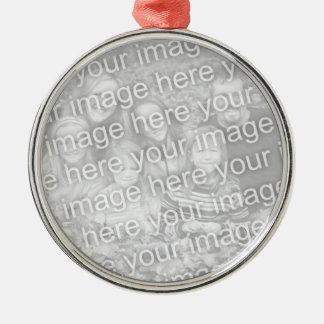 Cree su propio recuerdo redondo unilateral de la adorno navideño redondo de metal