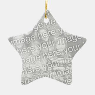 Cree su propio recuerdo unilateral de la foto de ornamento para reyes magos