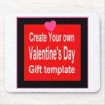Cree su propio regalo de la tarjeta del día de San Tapete De Raton