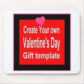 Cree su propio regalo de la tarjeta del día de San Tapetes De Raton