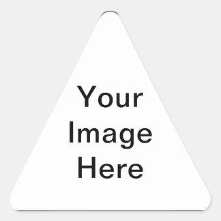 Cree su propio regalo personalizado del día del St Pegatinas Triangulo Personalizadas
