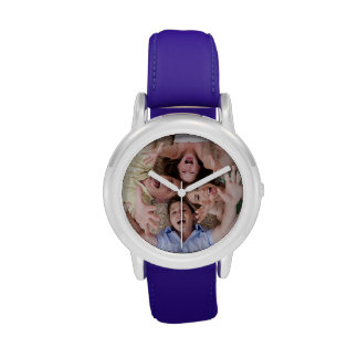 Cree su propio reloj azul de encargo de la correa