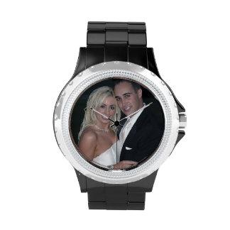 Cree su propio reloj de encargo del diamante artif