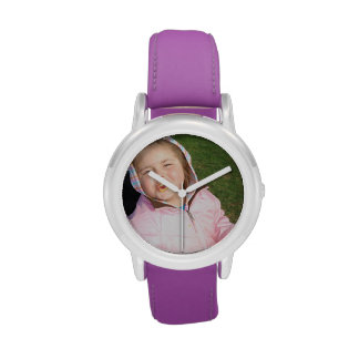 Cree su propio reloj púrpura de encargo de la corr