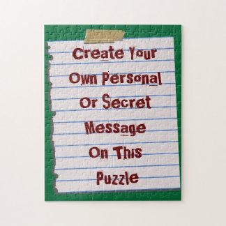 Cree su propio rompecabezas del mensaje