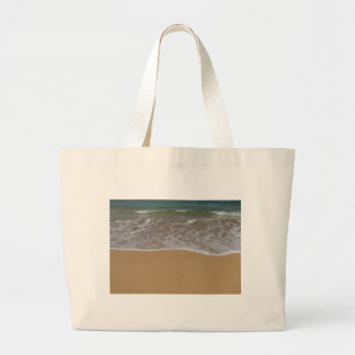 Cree su propio tema de la playa bolsa tela grande