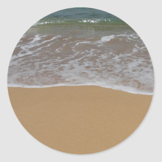 Cree su propio tema de la playa etiqueta redonda
