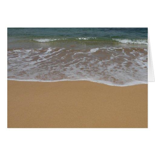 Cree su propio tema de la playa tarjeta