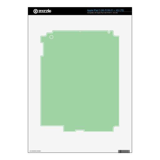 Cree su propio verde de mar de Irlanda de encargo iPad 3 Skins