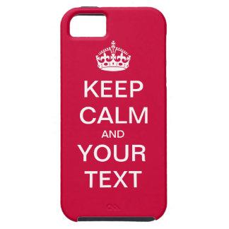"""¡Cree su texto de encargo """"guardan calma y iPhone 5 Funda"""