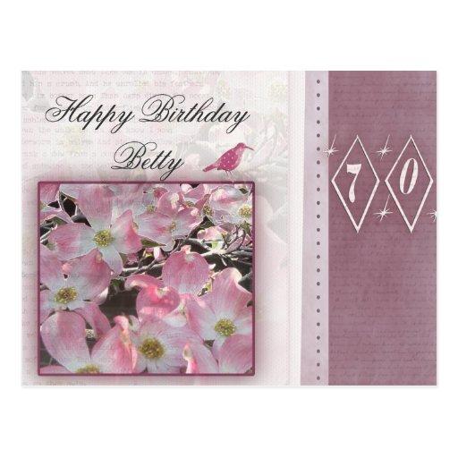 Cree sus los propios 70.o cumpleaños personalizado postales