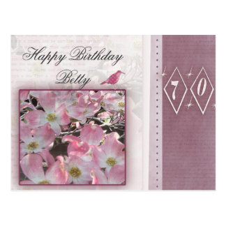 Cree sus los propios 70.o cumpleaños personalizado tarjetas postales