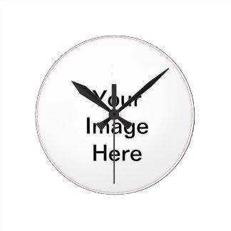 Cree sus los propios añaden imagen y el texto relojes de pared
