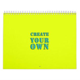 Cree sus los propios calendario