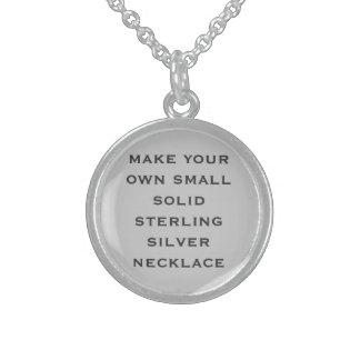 Cree sus los propios collares de plata esterlina