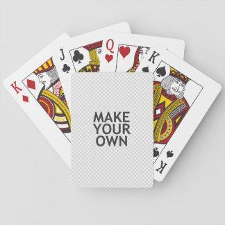 ¡Cree sus los propios en un paso fácil! Cartas De Póquer