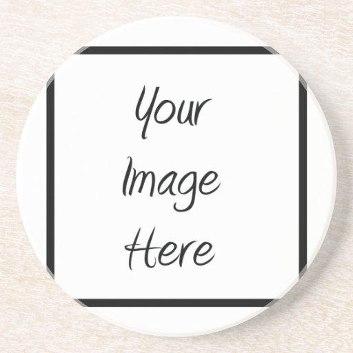 Cree sus los propios - espacio en blanco del perso posavasos personalizados