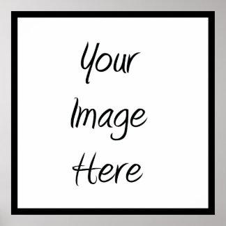 Cree sus los propios - espacio en blanco del perso póster