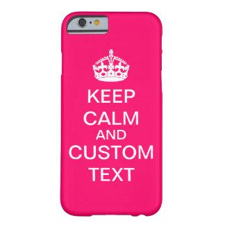 Cree sus los propios guardan calma y continúan funda barely there iPhone 6