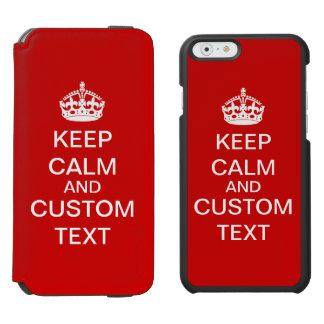Cree sus los propios guardan calma y continúan funda billetera para iPhone 6 watson