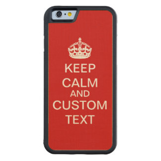 Cree sus los propios guardan calma y continúan funda de iPhone 6 bumper arce