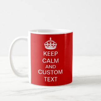 Cree sus los propios guardan calma y continúan per tazas de café